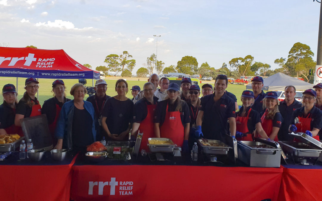 RAPID RELIEF TEAM FIGHTS FIRES IN VICTORIA