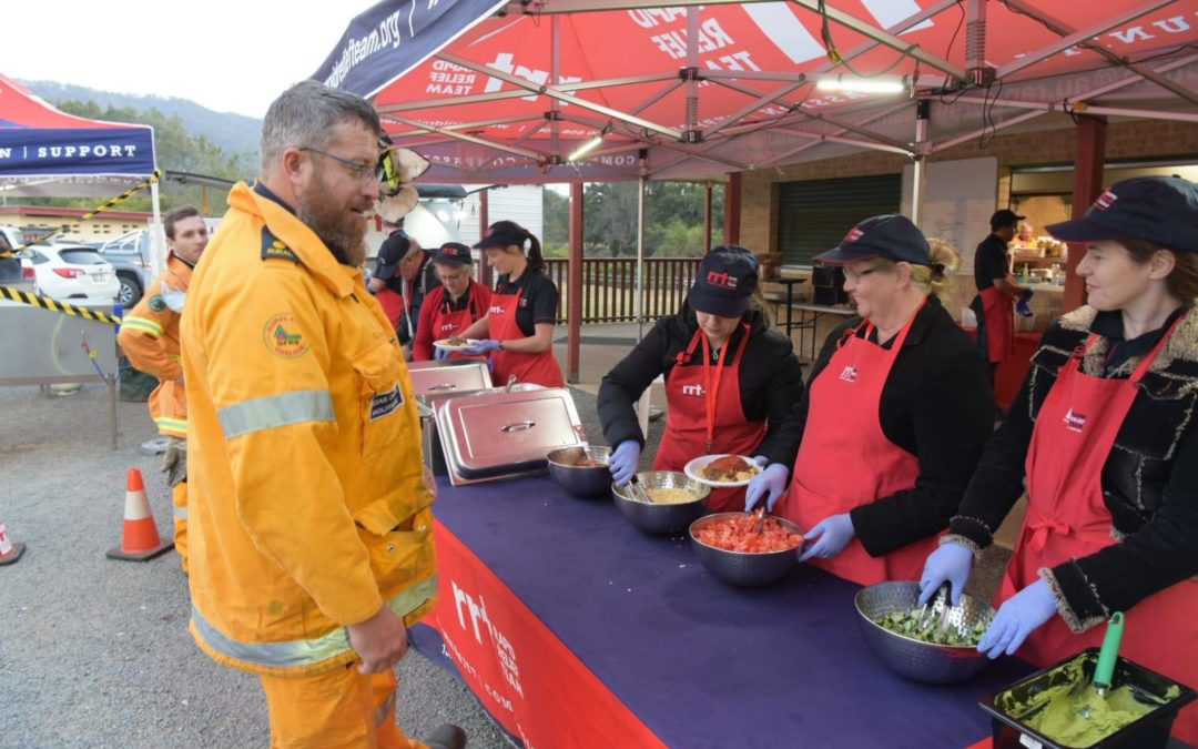Sky News: RRT volunteers keeping hardworking firefighters fed