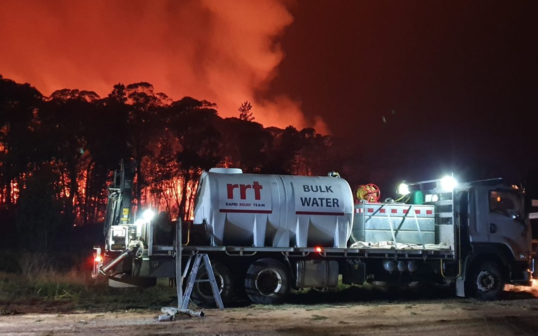 RRT VOLUNTEERS DELIVER WATER AND FOOD TO WA FIREFIGHTERS