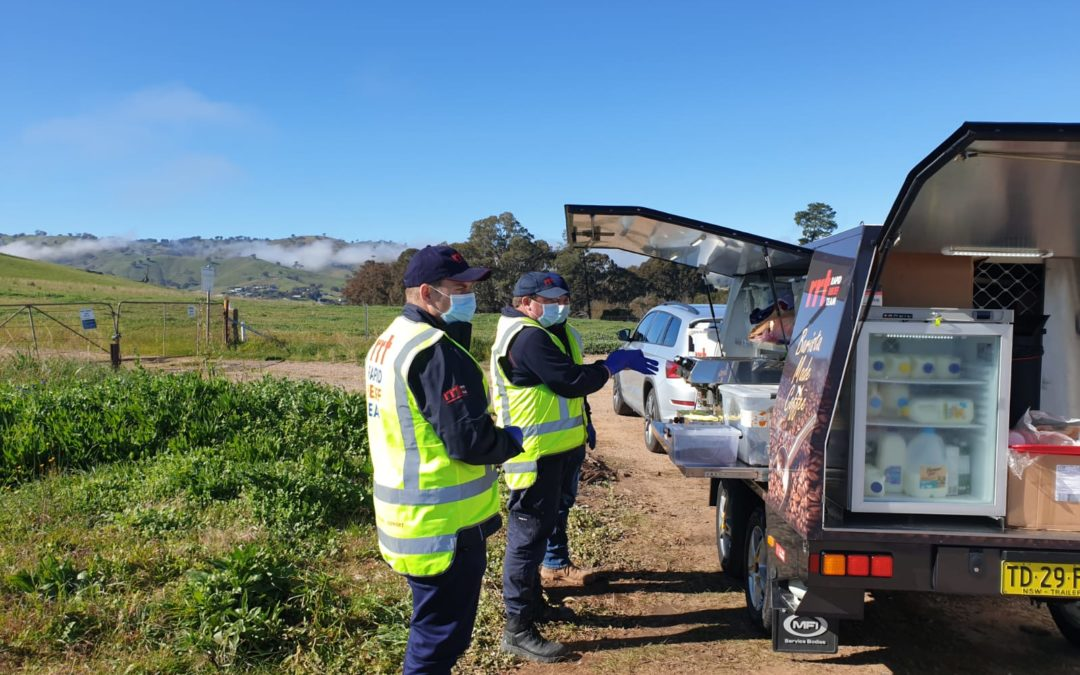 RRT volunteers on the Albury Wodonga Covid Border Control 7