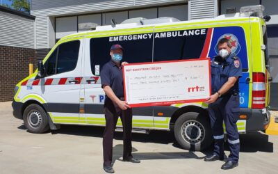 BRETHREN CHARITY JUMPSTARTS FUNDS FOR A SWAN HILL CPR DEVICE WITH $3000 DONATION TO AMBULANCE VICTORIA